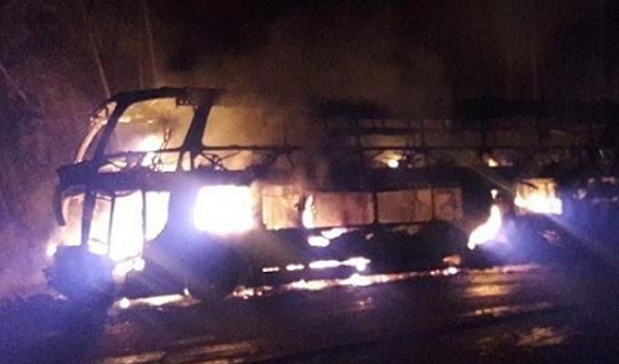 Huaral: ómnibus interprovincial se incendia en carretera Panamericana Norte