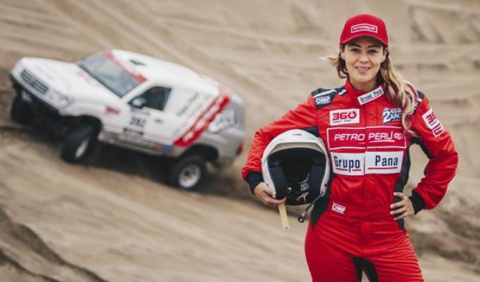 Fernanda Kanno se convirtió en la primera piloto peruana en terminar el Dakar