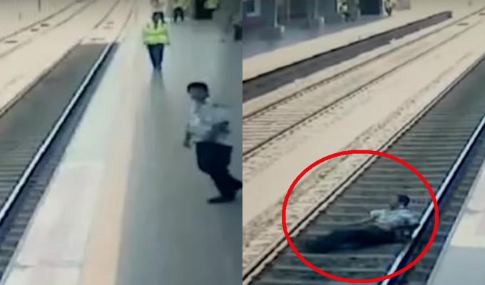 Metro de Lima: hombre se desvanece y cae a rieles del tren en estación de VES