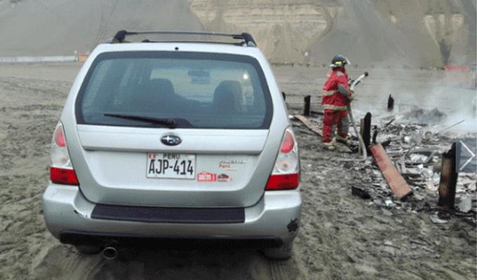 Bomberos hallan cuerpo calcinado dentro de vivienda en playa de Asia
