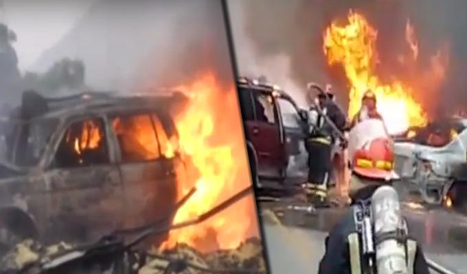 Huarochirí: grave accidente de tránsito se registró en el kilómetro 45 de la Carretera Central