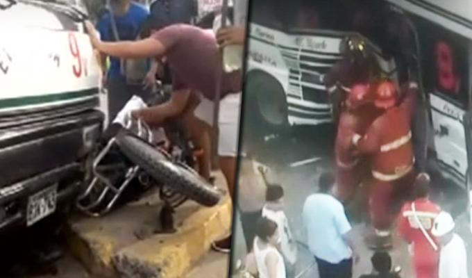 Siete heridos de gravedad deja triple choque en Los Olivos