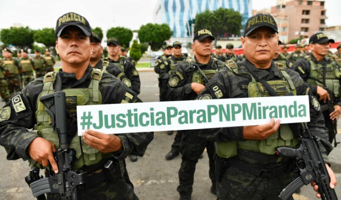 Policías en emotiva ceremonia: ¡Estamos contigo, suboficial Miranda!