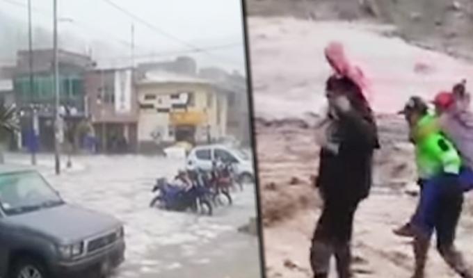 Más de 15 viviendas quedaron sepultadas por lodo y piedras en Huancavelica