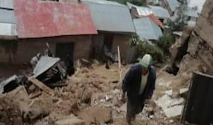 Huancavelica: alud cae sobre vivienda y mata a familia