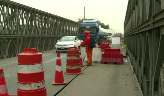 Huachipa: daños en puente Bailey generan gran caos vehicular