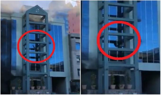 Hombre se lanza al vacío creyendo que edificio estaba en llamas