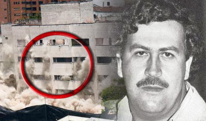 Graban al supuesto fantasma de Pablo Escobar en implosión de edificio