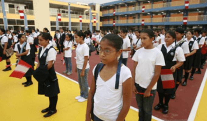 Minedu: se debe suspender la formación escolar en lugares abiertos