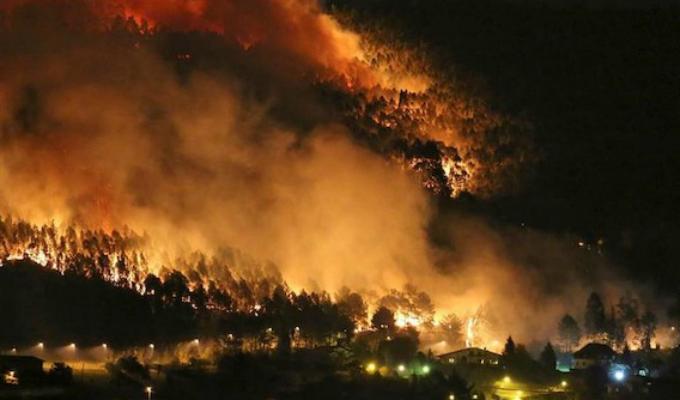 España: incendios forestales vienen afectando la región de Asturias