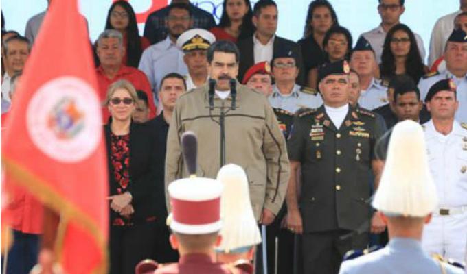 Maduro condecoró a militares que impidieron entrada de ayuda humanitaria