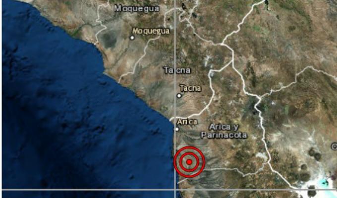 Sismo de magnitud 5.0 sacudió a Tacna