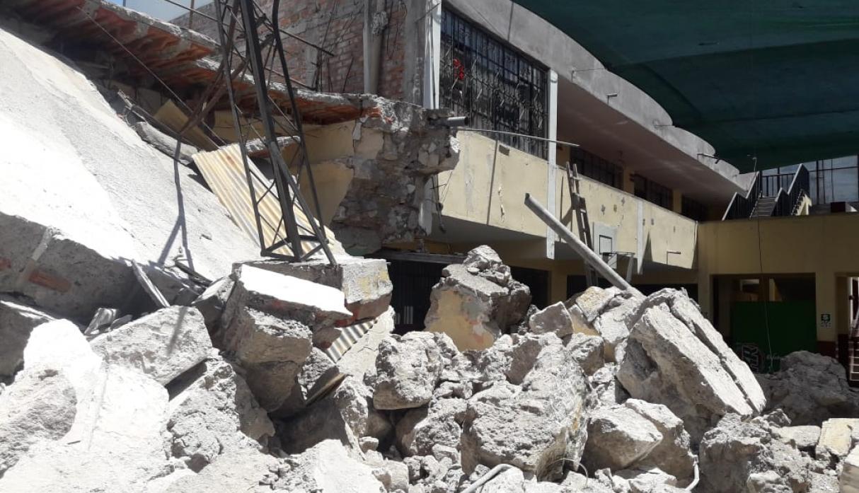 Arequipa: aula de colegio colapsó a pocos días del inicio del año escolar