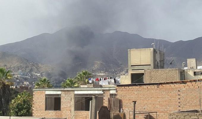 Rímac: reportan voraz incendio en fábrica de calzados