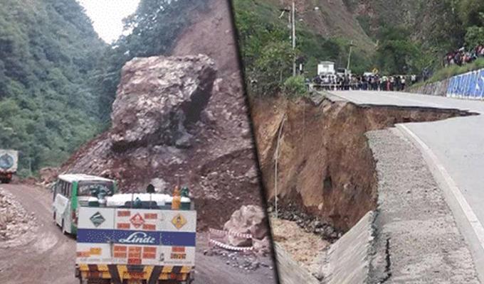 Huánuco: caída de huaicos deja 8 desaparecidos y cuantiosos daños materiales