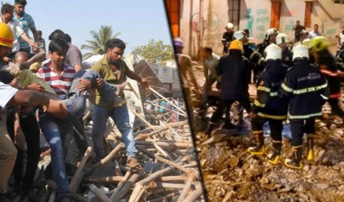 India: derrumbe de edificio deja dos muertos y más de cien personas atrapadas