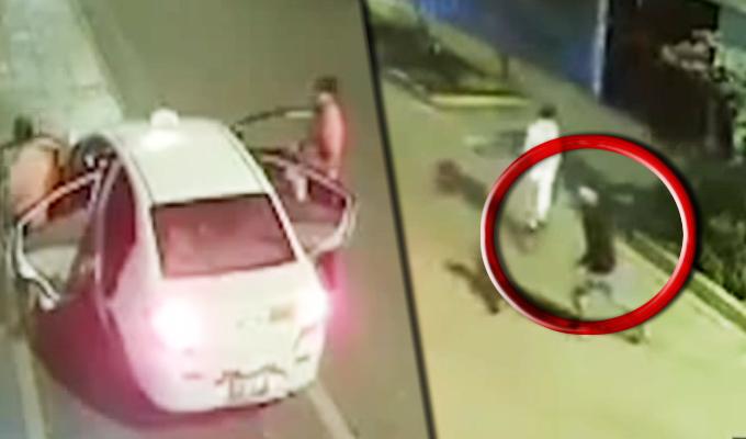 Cámaras registraron el momento cuando sicarios asesinan a extranjero en SMP