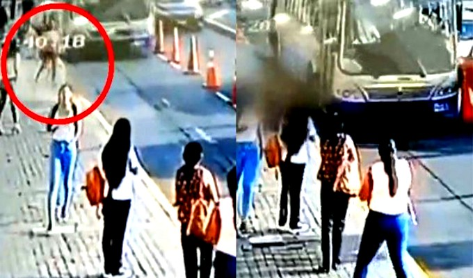 Cercado de Lima: bus del Corredor Azul embiste a mujer que intentaba subir a un colectivo