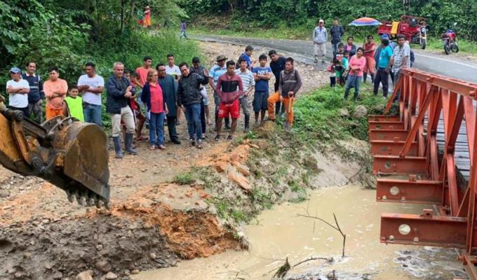 San Martín: al menos cinco viviendas destruidas tras caída de huaico