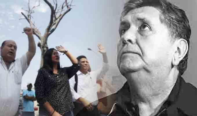Así recibieron la noticia de la muerte de Alan García los simpatizantes apristas en el Casimiro Ulloa