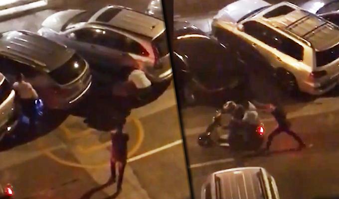 Magdalena: captan violento robo en puerta de conocida panadería