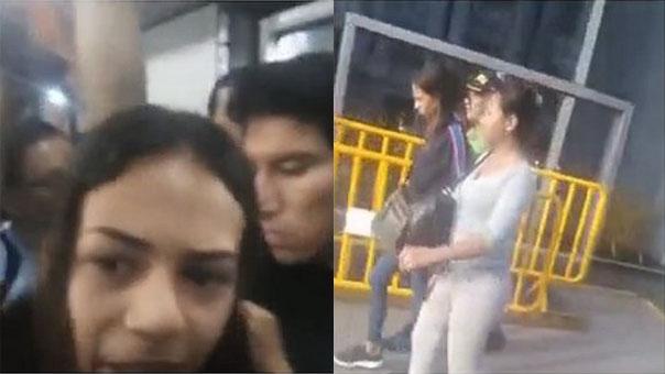 Detienen a extranjeras acusadas de robar celular en el Metropolitano