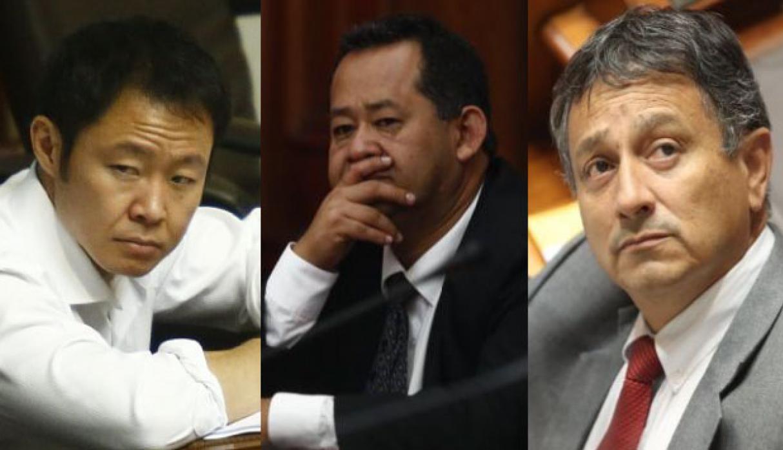 Ocho bancadas piden la reincorporaciónde Kenji Fujimori, Bocangel y Ramírez