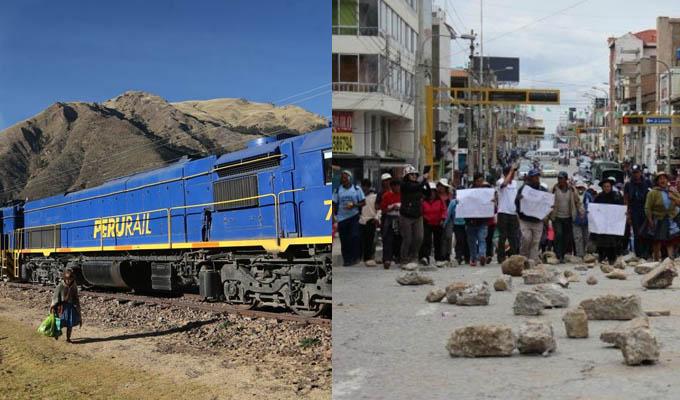 Cusco: viajes en tren son suspendidos por paro agrario