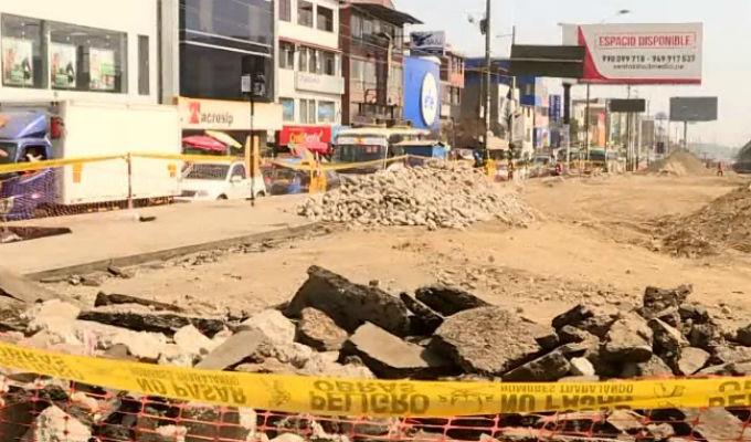 Obras en avenida Pachacútec siguen causando problemas