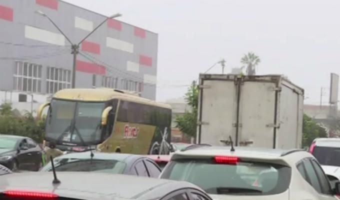 Obras de Panamericanos provocan caos vehicular