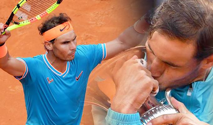 Nadal venció a Djokovic y se consagró como campeón del Masters 1.000 de Roma