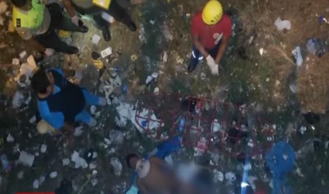 Tumbes: ladrón se lanza de puente para escapar de policías