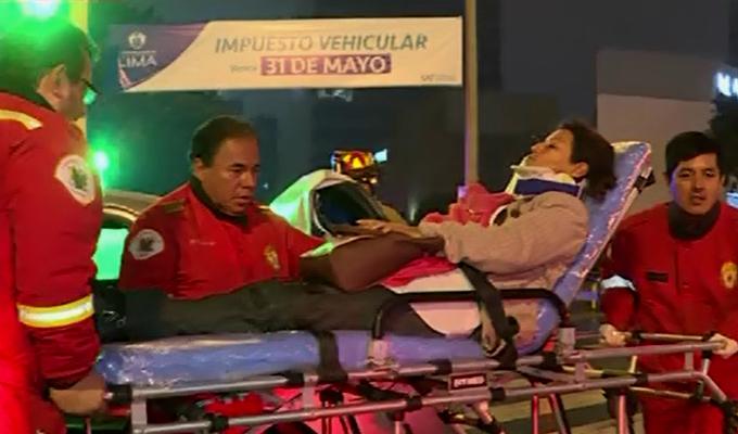 San Isidro: mujer resulta herida tras choque de dos autos