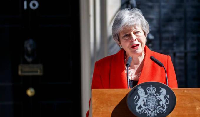 Reino Unido: entre lágrimas Theresa May anunció su dimisión