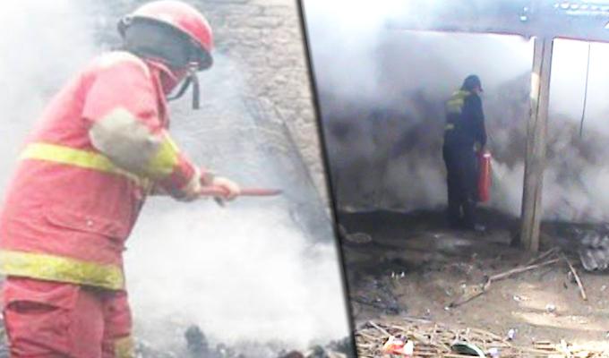 Huancayo: captan momento en que taller de pirotécnicos explota