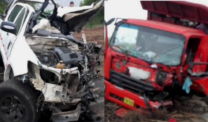 Áncash: dos muertos y cinco heridos deja aparatoso choque en Ñepeña