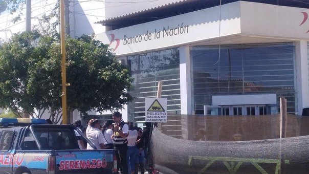 Piura: asaltan agencia del Banco de la Nación sin hacer uso de armas