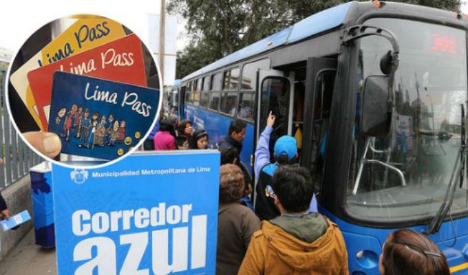 Solo con tarjetas podrán pagar en buses del Corredor Azul