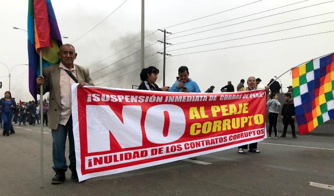 Puente Piedra: protestan y exigen eliminar el cobro del peaje