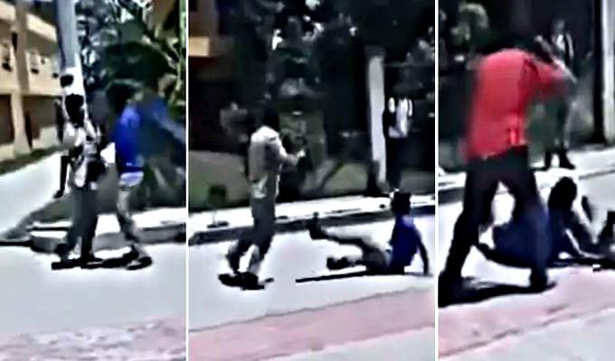 Profesor agrede a correazos a dos estudiantes que peleaban
