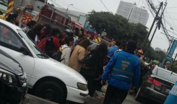 Miraflores: siete escolares fueron atropellados tras despiste de auto