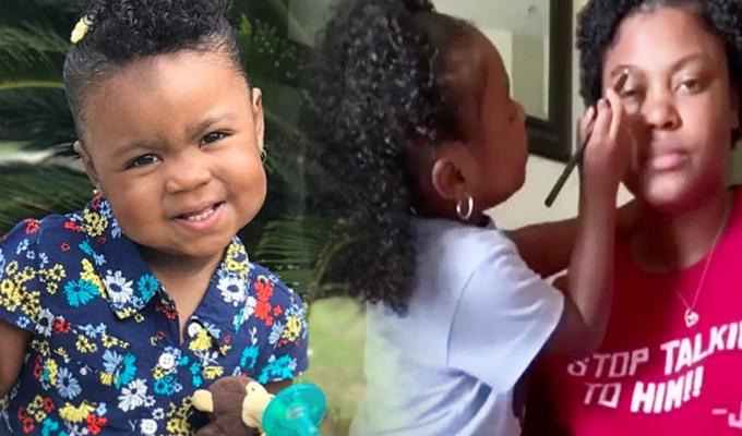 EEUU: niña de 3 años sorprende con tutoriales de belleza