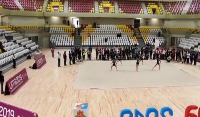 Lima 2019: gimnastas ya practican en polideportivo de VES
