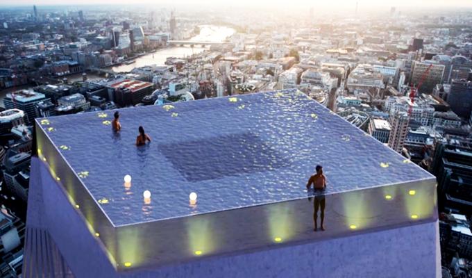 Reino Unido: presentan la primera piscina infinita con vista de 360º y fondo transparente
