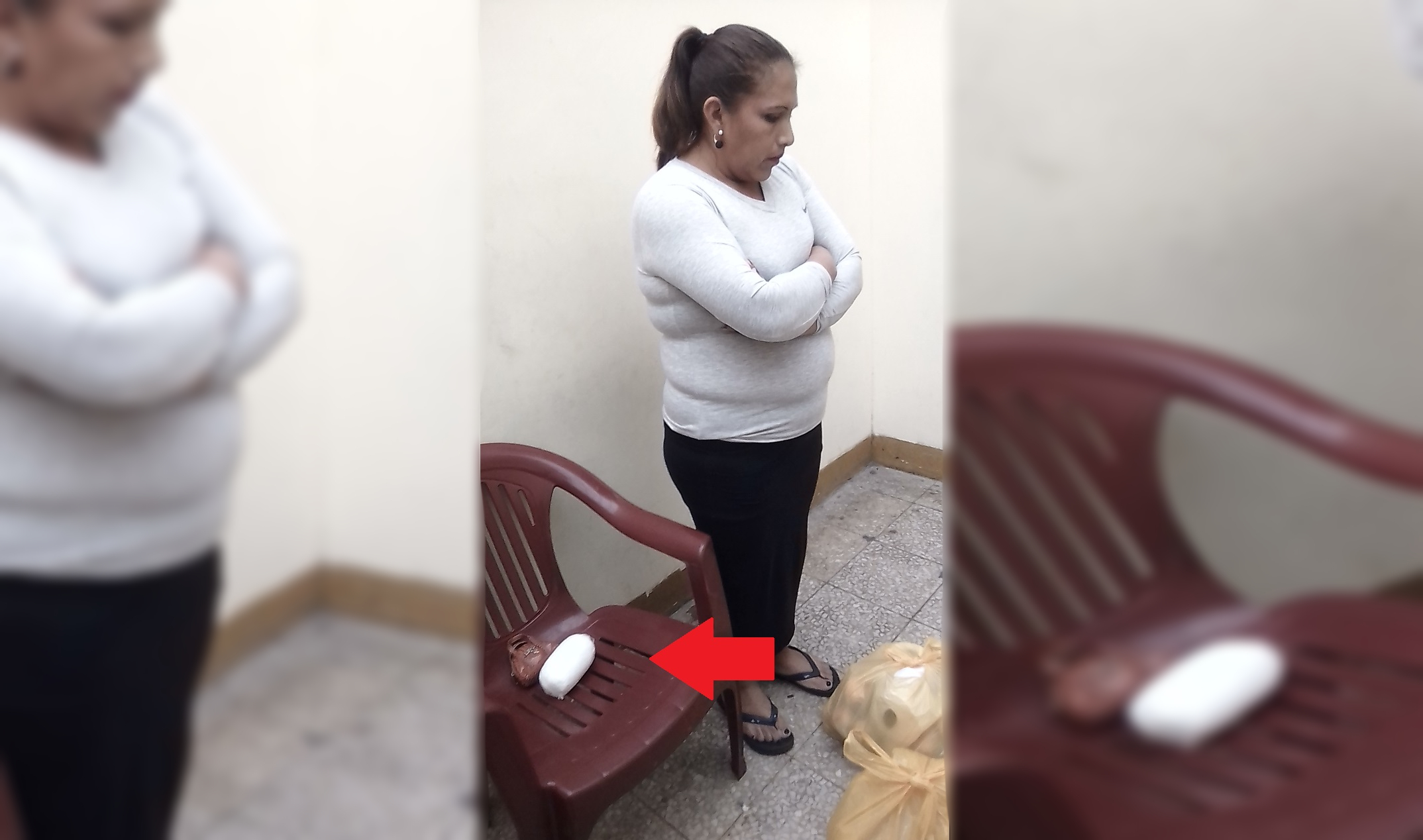 Detienen a mujer que intentó pasar cocaína al penal de Lurigancho