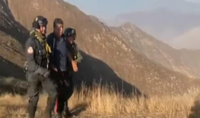 Chosica: rescatan en helicóptero a hombre extraviado en cerro