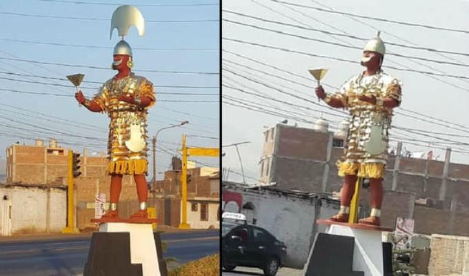Trujillo: roban corona de estatua del Señor de Sipán a un día de su inauguración