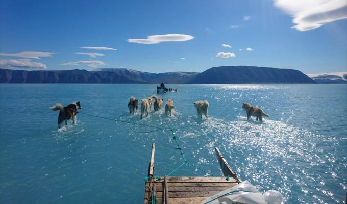 Groenlandia: el drama del deshielo en una sola foto