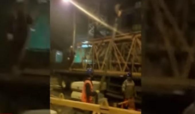 Miraflores: desmontaje de grúa se paraliza por reclamo de vecinos