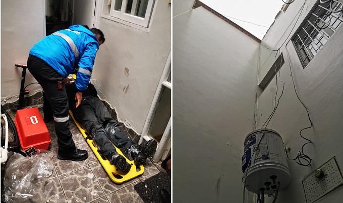 Obrero sobrevive tras caer desde el tercer piso de una vivienda en Miraflores